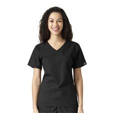 Black Sanibel Works 1220 - Womens Vneck 3-Pocket Top- Various Colors Available