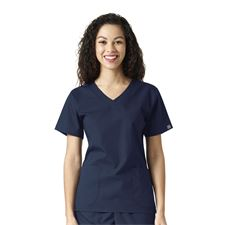 Navy Sanibel Works 1220 - Womens Vneck 3-Pocket Top- Various Colors Available