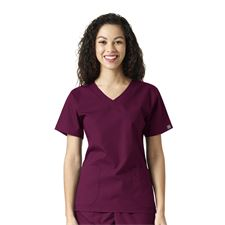 Wine Sanibel Works 1220 - Womens Vneck 3-Pocket Top- Various Colors Available