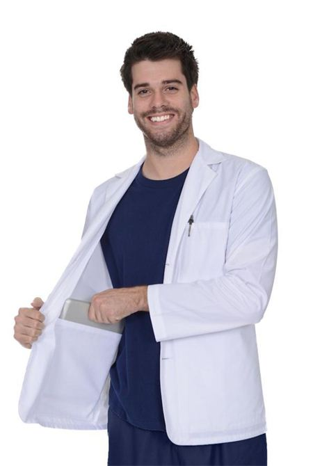 Sanibel Scrubs Men's Lab Coat - Short