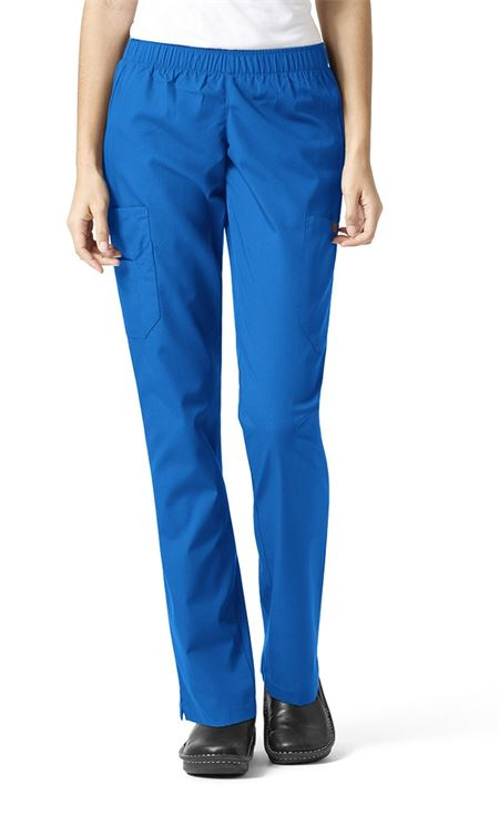 Women S Petite Elastic Waist Scrub Pants Cargo Pants