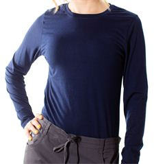 im looking for some brightly colored long sleeve or 3/4 sleeve shirts i can wear under scrubs. they have to be solid colors, no designs or stripes. dont want a v neck shirt. just a regular fitted Wonder Wink makes a really nice long sleeve undershirt. Sep 10, ' I always wore WalMart for both short sleeves and long sleeves. Love them.